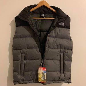 The North Face fill down vest sz S M